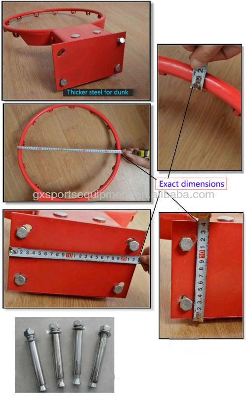 Thicker solid steel basketball rim R45cm