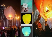 Воздушный шар 10 pcs pure color High quality flying paper sky lanterns Manufacturer selling flying paper sky lanterns Wish gift flying lantern