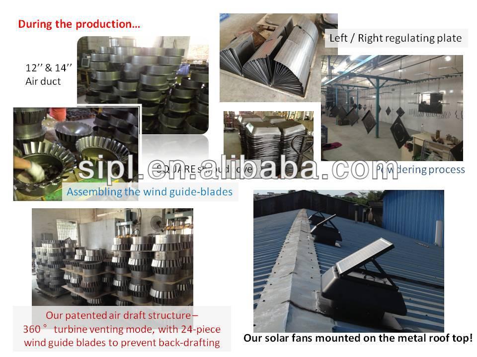 30 Watt Solar Panel Detached Air Extractor Exhaust Fan (industrial roof stand fan)