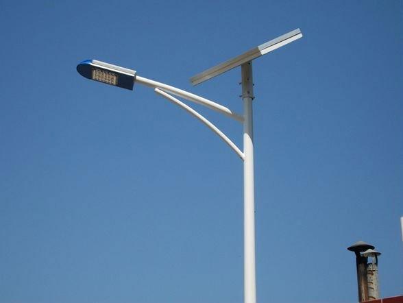 lk sl35b4 solar street light pole with factory price