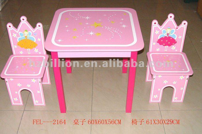 De alta calidad para ni os de madera mesa de estudio con - Sillas de estudio para ninos ...