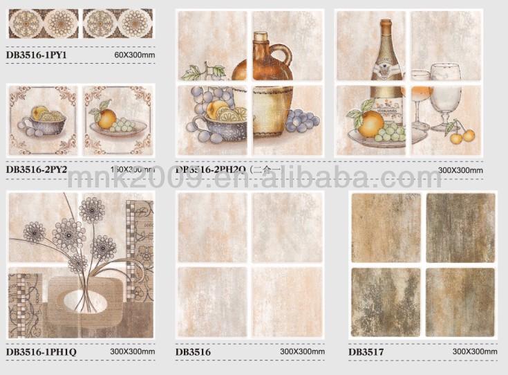 Vintage Keuken Tegels : Keukenwand Apparatuur: Retro stijl keuken wand en vloertegels tegels