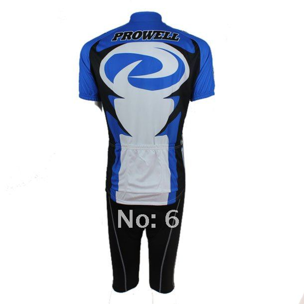 Free shipping PROWELL  short cycling jersey and shorts set/cycling Clothes sets Red / Blue