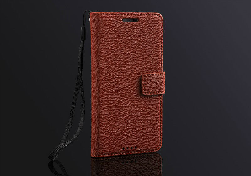 High Quality Cross Pattern Leather Flip Case for HTC One M7