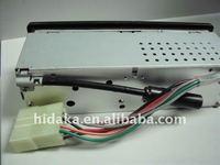 20pcs/carton retail 12/24V automatically interchangable Car radio for excavator with  3.5 audio line input + your logo