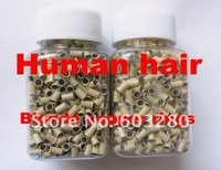 1000 micro copper rings /LOT Blonde color for micro rings hair extension/ Stick tip/ I-tip hair beauty salon use
