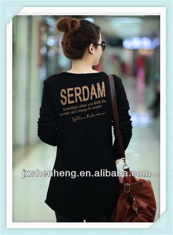 ladies long sleeve shirt,beatiful ladies shopping shirt,t-shirt with pocket