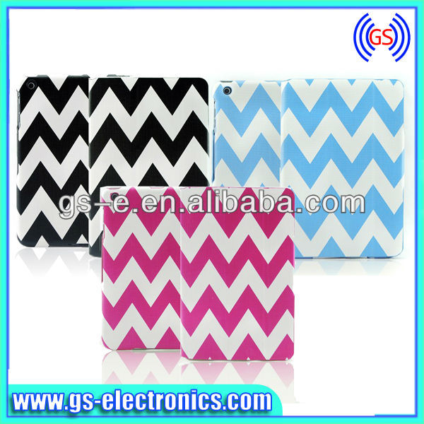 Color Stripe Pattern Leather Case with Holder & Credit Card Slot for iPad 4 / New iPad (iPad 3) / iPad 2