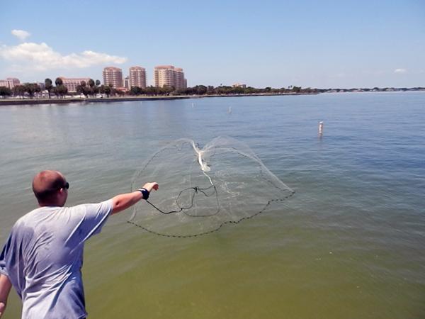 Рыболовная сеть Danshuisha Cast Net,  net.mesh 0,8 10 , 140 AS-140