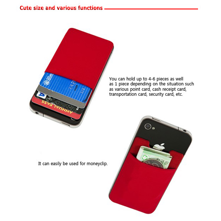 [samsung cell phone] silicone smart wallet for Iphone card holder,phone pouch with 3M sticker