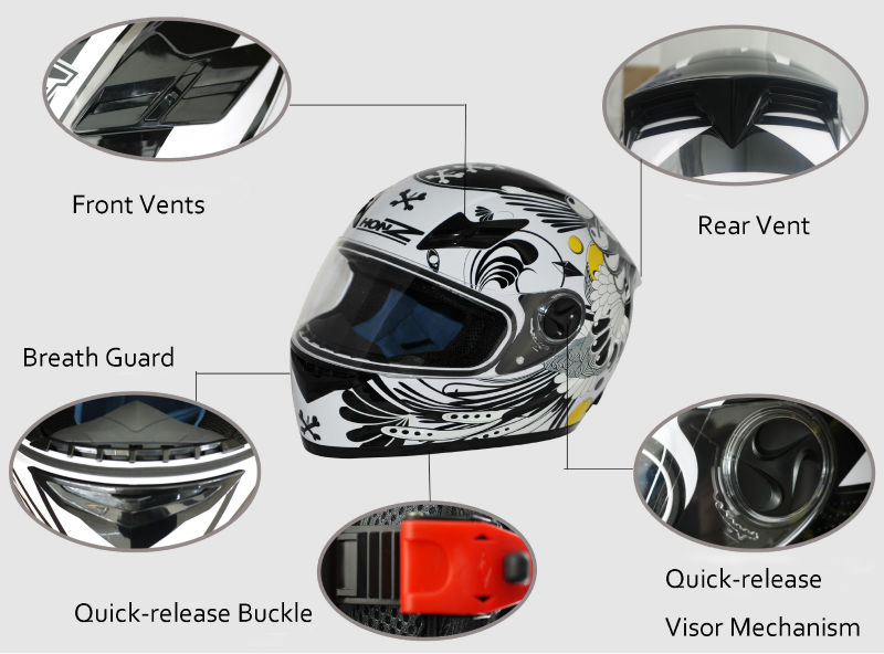ECE 22.05 &DOT Road Full Face Helmet,Racing Helmet For Motorcycle Rider