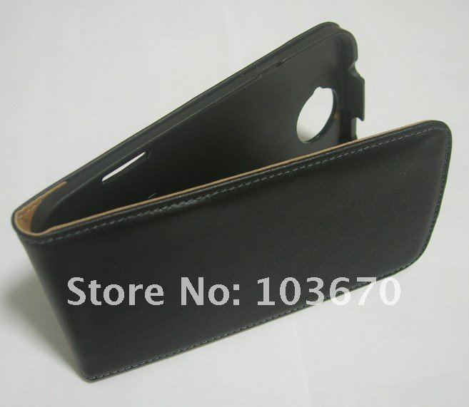 New Flip Cover Genuine Leather Case for HTC One X, Free Shipping
