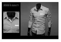 Мужская толстовка men Tshirts check collar romantic French stripe design slim luxurious hot