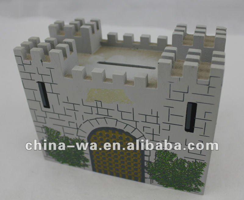 Fancy Money Boxes Wooden Fancy Castle Money Box