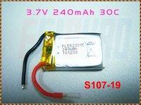 Запчасти и Аксессуары для радиоуправляемых игрушек F00852 Syma Metal Alloy S107 Spare parts 3.7v 240mAh Li-Po Lipo Battery S107-19