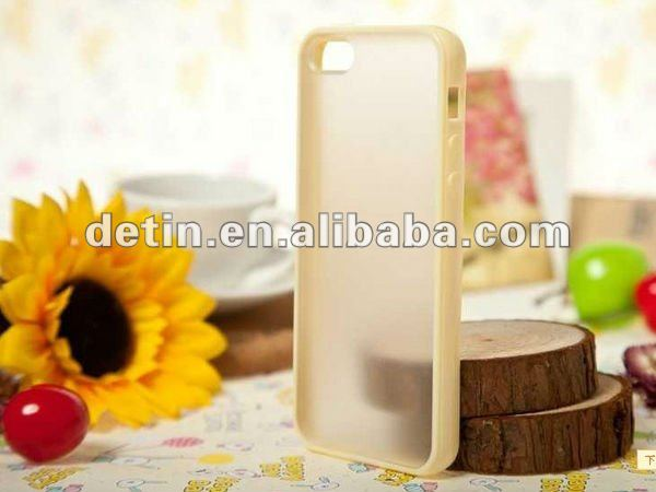 Shenzhen Wholesale tpu bumper for iphone5 with hard back cover