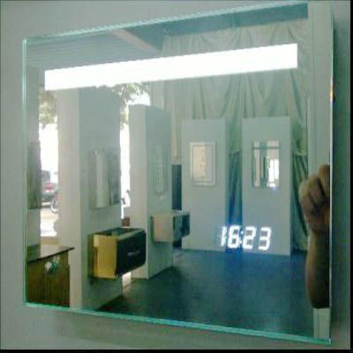 Bathroom mirror clock