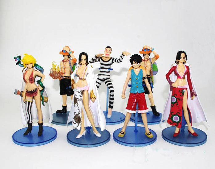 Japan Anime ONE PIECE 13-15cm 7pcs Figure  set T165