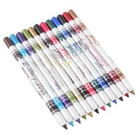 Макияжный набор 12 Color Plastic Glitter Eyeliner Lip Eyebrow Pen Pencil Cosmetic Makeup Set