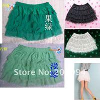 color Matt four nets yarn princess skirt/snow spins black and white cake skirt/bust skirt render short skirt