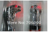 NEW AUTO Blue / Red LED light Snake Transmission Gear Knob / Shift Knob Shifter Silver Free Shipping
