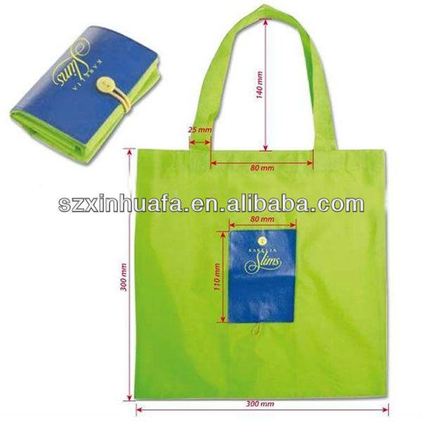 (XHF-SHOPPING-165)environmental green reusable nylon folding shopping bag foldable shopping bag