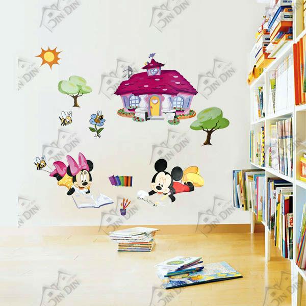 Cute dibujos animados de mickey animales de la pintura - Pintura para habitacion de ninos ...