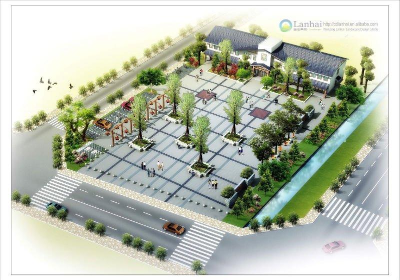 plaza of village