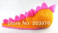 Головной убор для девочек Discount November Lovely animal hat Knitted handmade dinosaur hat for baby gift 3pcs/lot
