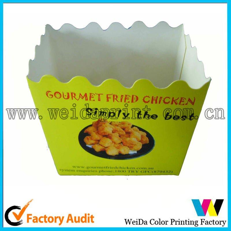 Caixa de embalagem de alimentos de frango frito