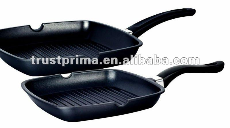Ceramic Coating Die Casting Square Fry Grill Pan