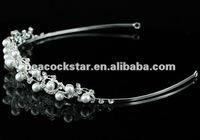 Ювелирное украшение для волос Bridal Wedding Party Quality Flower White Faux Pearl Tiara CT1372