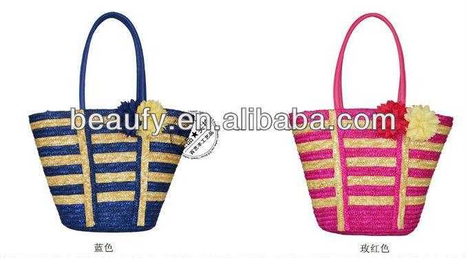 2013 direct selling colourful leader shoulder strape striped lady bag