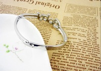 Ювелирное изделие 518-1 Korean English letters full of jewelry BABY bracelet alloy bangles fashion style