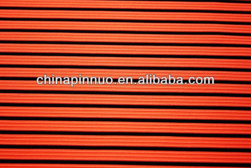 polyester spandex ottoman fabric, stripe knit fabric