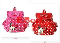 Рюкзак E-Best]! Baby girls cute bags, minnie backpacks, baby girls kindergarten bag, 3pcs/lot Red/Hot pink E-BG-001