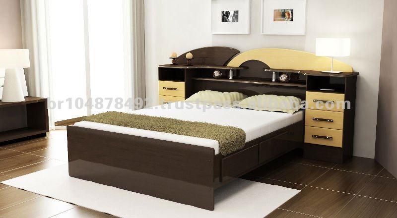 Modelo de camas de madera matrimoniales imagui for Cama matrimonial con cama individual abajo