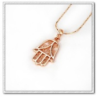 Ювелирная подвеска Copper with 18k gold plated hand shape necklace pendant