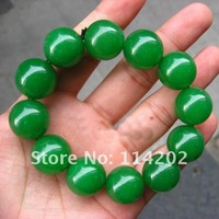 18MM natural Burma Emerald  fashion jade  Bracelet