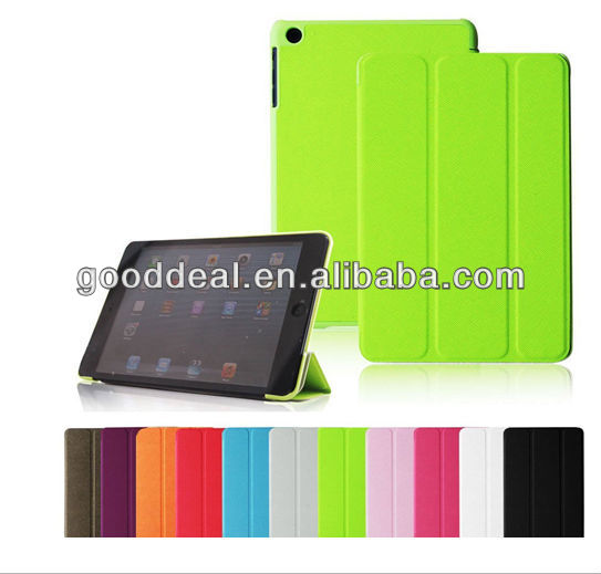 For iPad mini 2 smart leather cover, pu leather cover for ipad mini 2