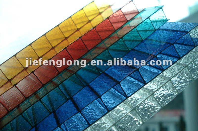 Plastic solar panel polycarbonate building sheet
