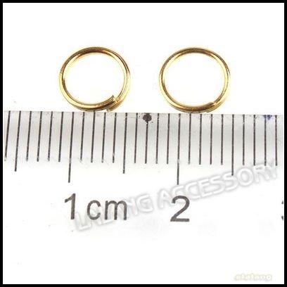 6000pcs/lot оптовая золотистая перейти кольца, сплит кольца, ювелирных изделий 6mm подходят серьги/браслет/оёерелье области 160645