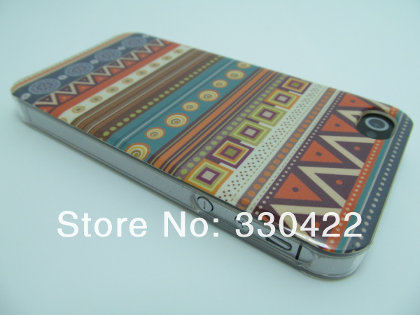 [IP4-49] Woven Linen Finish  Design Aztec Tribal Tribe Pattern Hard Plastic Case for Iphone 4 4G 4S (12).jpg
