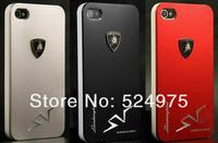"Чехол для для мобильных телефонов Metal Aluminum Back ""Lamborghini"" Hard Case Cover For Apple iPhone 4 4S + Gift L"