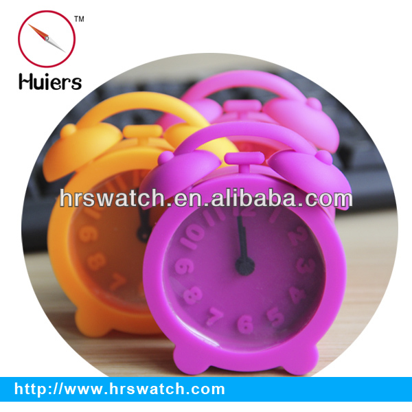 pretty silicone alarm clock,antique table clock