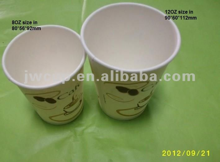 Newest disposable paper coffee cup with client printing