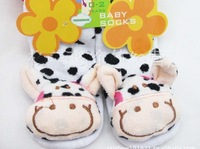 Носки для мальчиков New style baby socks with animal Baby Anti-slip Walking Home Shoes Children Stocking for 2 - 4 year old baby