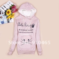 Женские толстовки и Кофты 2012 Fation Women Hoodies Clothing Thickens Weatshirt Outerwear Clothing 1Pcs/Lot