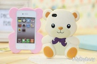 Симпатичные прекрасный 3d Мишка случае крышка для iphone 4 4 g 4s. ip5033