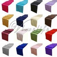 Столовые коврики и скатерти бегуны атласа таблице Размер: 12'' (около 30 см) х 108'' (около 270см)